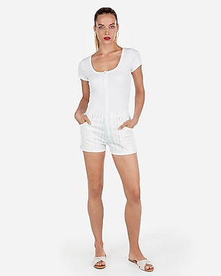 Express Womens High Waisted Stripe Vintage Shorts