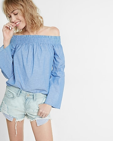 low rise striped pocket denim cutoff shorts