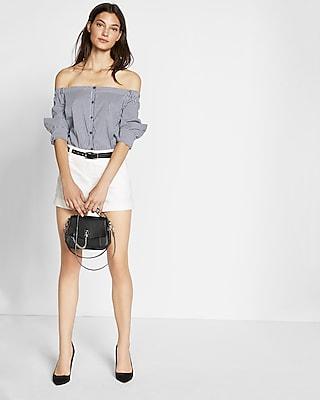 Petite Linen-blend Short