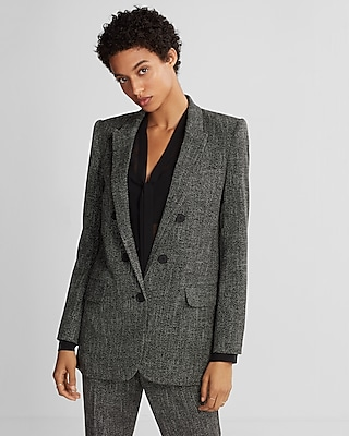 Express Womens Tweed Blazer