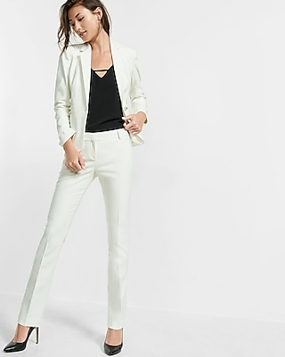 Express Womens 24 Inch One Button Jacket White 0