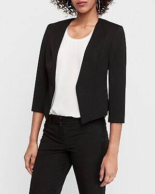 Express Womens Black Cutaway Blazer