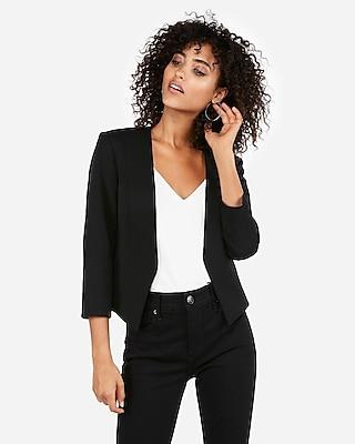 Express Womens Petite Cutaway Blazer