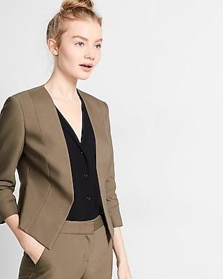 Express Womens Cutaway Jacket Green 00