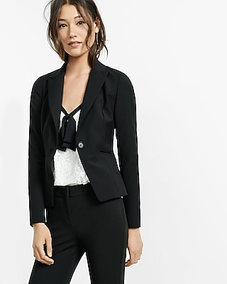 Express Womens Petite Peak Lapel Jacket