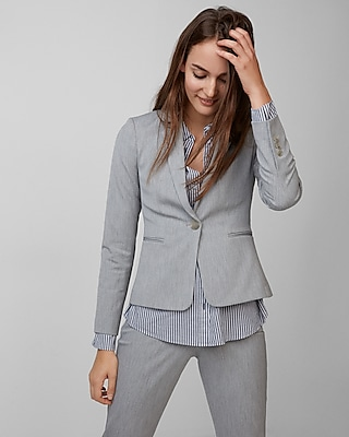 Express Womens One Button Blazer