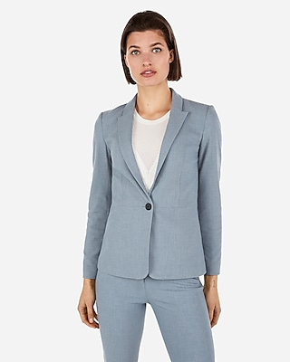 Express Womens Textured Slit Cuff Blazer