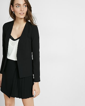 collarless soft cutaway jacket