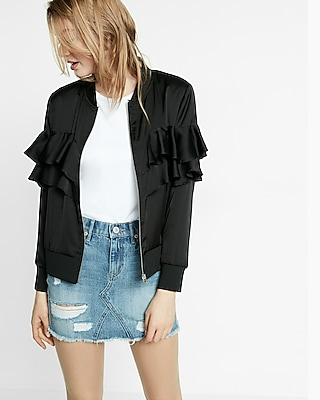 Express Womens Ruffle Jacket
