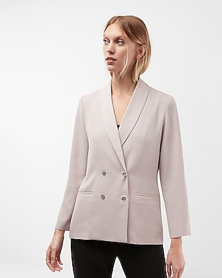 Express Womens Boxy Double Breasted Blazer