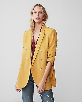 Express Womens Double Breasted Blazer