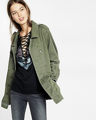 Express Womens Military Parka