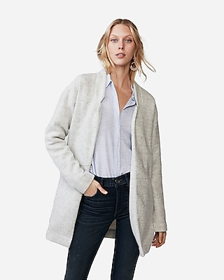Express Womens Petite Oversized Knit Blazer