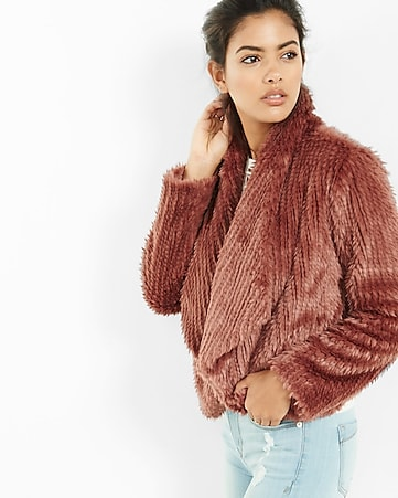 faux rabbit fur jacket