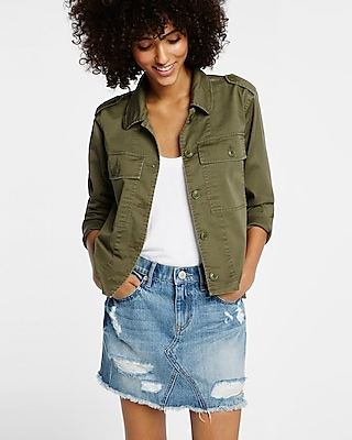 Express Womens Military Shirt Jacket