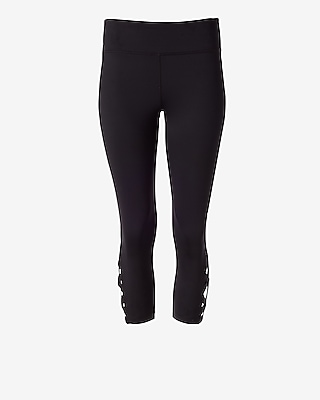 Express Womens Exp Core Lace-Up Cropped Legging