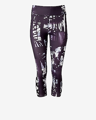 Exp Core Palm Tree Lace-up Cropped Legging