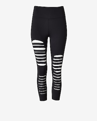 Exp Core High Waisted Slash Cut-out Cropped Legging