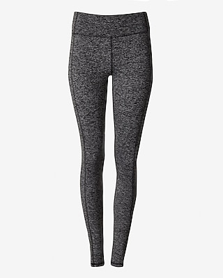 Express Womens Exp Core Marled Seamed Leggings