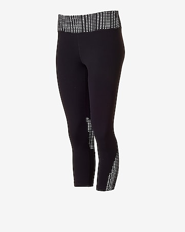 optical mesh EXP core compression crop legging