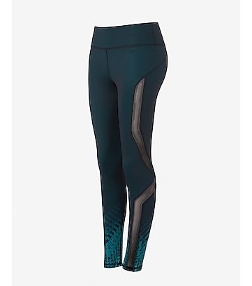geo print EXP core mesh inset compression legging