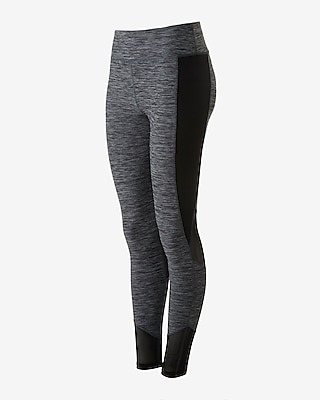 Express Womens Exp Core Pieced Mesh Compression Leggings