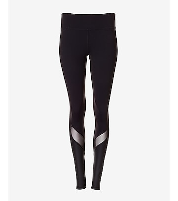 EXP core mesh and shine stripe compression legging
