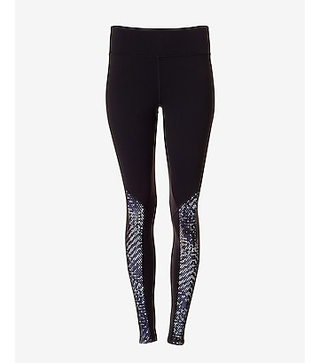 EXP core optical mesh stripe legging