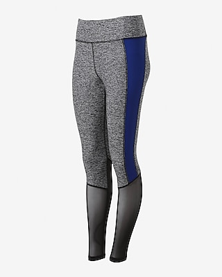 Express Womens Exp Core Mesh Panel Straight Leggings