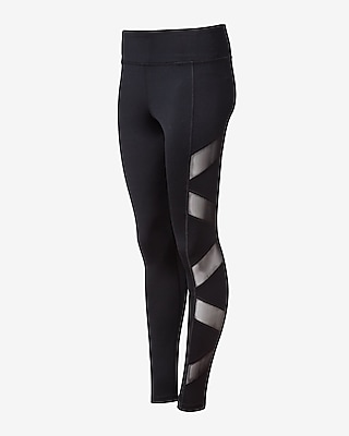 Express Womens Exp Core Slash Side Mesh Panel Leggings