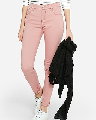 Express Womens Mid Rise Five Pocket Stretch Leggings
