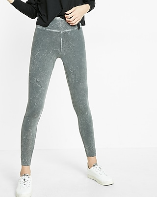 Express Womens High Waisted Sexy Stretch Washed Leggings