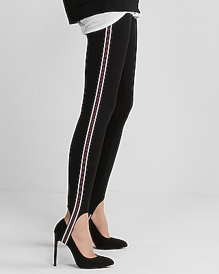 Express Womens Striped Stirrup Pull-On Leggings