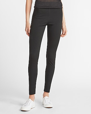 Express High Waisted Snakeskin Textured Ankle Leggings