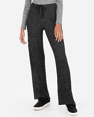 Express Womens Express Womens Express One Eleven High Waisted Ribbed Brushed Wide Leg Pants