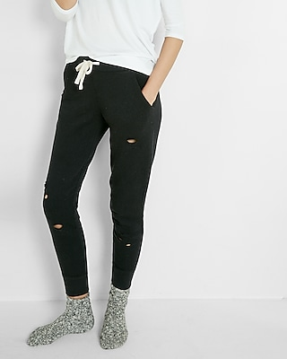 Express Womens Distressed Jogger Pant