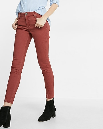 mid rise twist seam ankle legging
