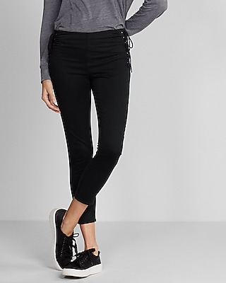 Express Womens High Waisted Lace-Up Side Pant
