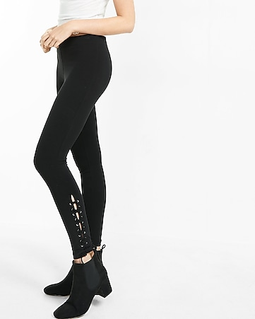 lace-up side sexy stretch legging