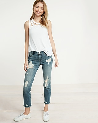 Express Womens Slash Neck Tank