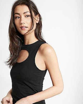 Express Womens Express One Eleven Keyhole Cut-Out Tank