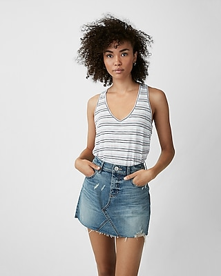 Express Womens Express One Eleven Striped Easy Tank