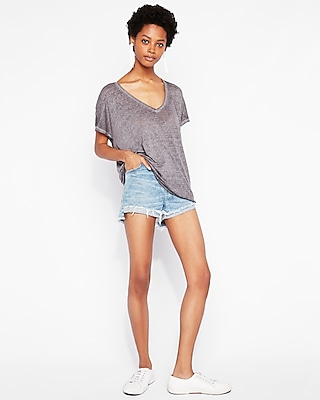 Express Womens Express One Eleven Burnout London Tee