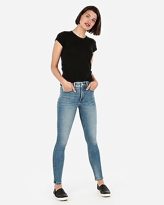 Express Womens Express One Eleven Extra Slim Crew Neck Tee