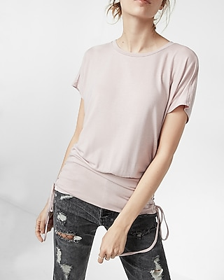 Lace-up Corset Dolman Tee