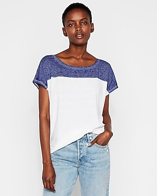 Express Womens Express One Eleven Burnout Off The Shoulder London Tee White Women's Xxs White Xxs