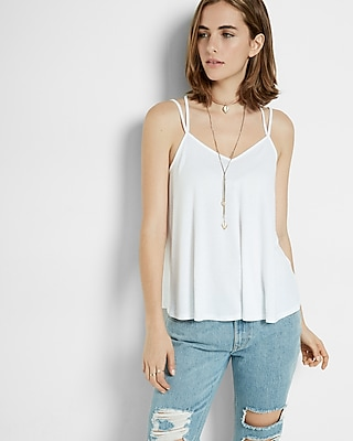 Express Womens Express One Eleven Crossover Trapeze Cami White Xx Small