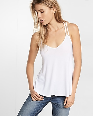 Express Womens Express One Eleven Strappy Back V-Neck Cami