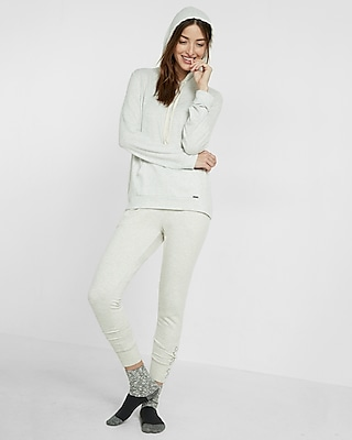 Express Womens Express One Eleven Plush Jersey Hoodie