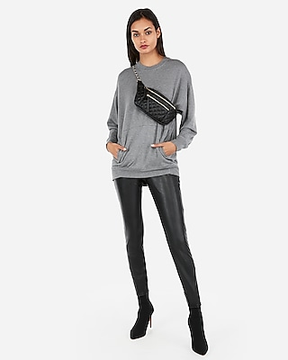 Express Womens Express One Eleven Oversized Crew Neck Sweatshirt